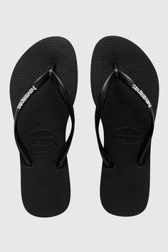 Havaianas Slim Rubber Logo Jandal - Jandals | North Beach