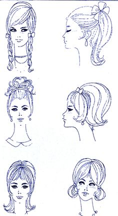 1960s hair styles for Decade Day on Spirit Week :)
