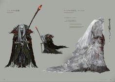 Bloodborne Concept Art - Pthumerian Elder/Yharnam the Pthumerian Queen Concept