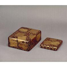 色紙団扇散蒔絵料紙箱・硯箱 18世紀