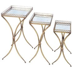 Woodland Imports 3 Piece Nesting Table Set & Reviews | Wayfair
