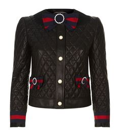 2e4e49c7917c2 Gucci Quilt Leather Jacket available to buy at Harrods.Shop clothing online  and earn Rewards