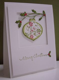 Poinsettia Ornament by Loll Thompson - Cards and Paper Crafts at Splitcoaststampers  punch from stampin up. and MB holly vine