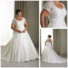 Dresses for Women Over 60 | ... Delicate-White-Organza-Fat-Women-Wedding-Dresses-With-Short-Sleeve.jpg