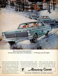 Vintage advertisement for 1965 Mercury Comet.