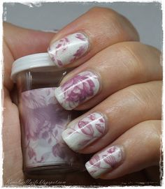 #Foil Manicure #English #Rose Nail Art