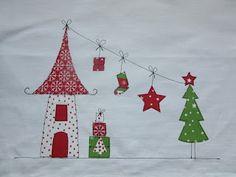 Weihnachtliches Tischset, Platzdeckchen, Applikationen Weihnachten, PedisHandmade