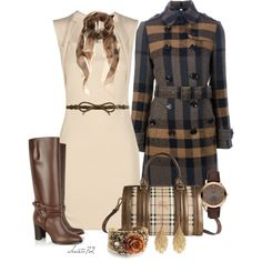 A fashion look from November 2012 featuring Burberry coats, Burberry boots and Burberry handbags. Browse and shop related looks.