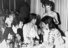 David Bowie, Mick Jagger Lou Reed – the Café Royal in Regent Street. 4th July 1973.