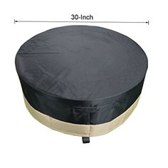 Fire Pit Covers - Stanbroil Full Coverage Round Fire Pit CoverTable Black 30 Inch *** Click image for more details. (This is an Amazon affiliate link)