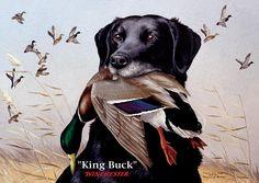 King Buck    1959 Federal Duck Stamp Artwork Painting
