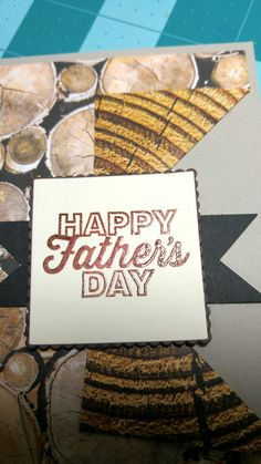 Father\'s Day card using the new Wood Textures DSP from Stampin Up. #stampinup #woodtexturesdsp #fuzzygreetingzcrafts
