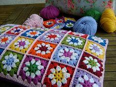 daisy granny square                                                                                                                                                                                 Más