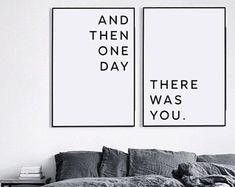 Und dann eines Tages gab Sie, Valentinstag Geschenk, Geschenk für ihn, Freundgeschenk, Valentinstag druckbare, Geschenk für Mann, Valentines drucken