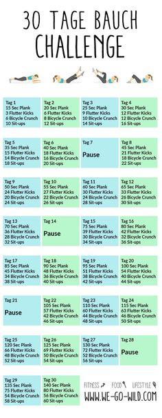 30 Tage Po Challenge – der kostenlose Trainingsplan 30 days Po Challenge – the free training plan Fitness Workouts, Fitness Herausforderungen, Fitness Goals, At Home Workouts, Fitness Motivation, Health Fitness, Training Fitness, Fitness Challenges, Body Workouts