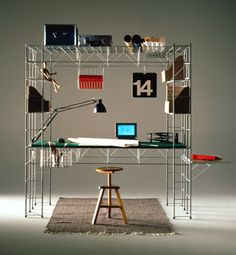 home office. by Bruno Munari Interior Architecture, Interior And Exterior, Nomadic Furniture, Furniture Inspiration, Office Interiors, Interiores Design, Home Office, Furniture Design, Home Decor