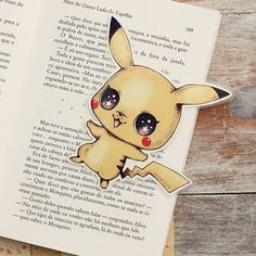 Inspired by Pikachu limited edition bookmark by ribonitachocolat