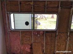 Replacing Water Damaged Camper Walls. See how we did it at downemorylane.com