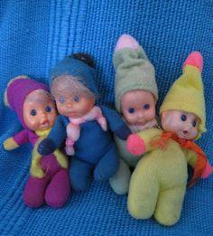deze popjes waren gevuld met korrels waardoor ze bleven zitten