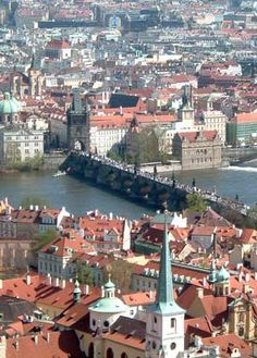 Prague from the Castle with the Charles Bridge