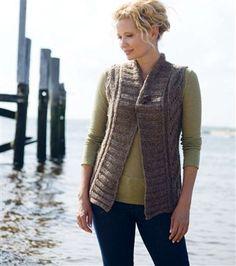 Montague Bulky Lace Vest - Media - Knitting Daily