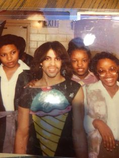 Prince Backstage With Fans In 1980