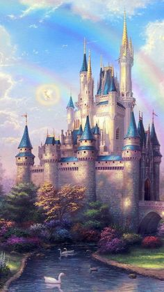 Fantasy Castle iPhone Wallpaper