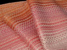 Handwoven Scarf Pink Bamboo Hand Woven Scarf by LoomOnTheLake