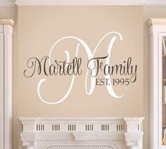 Family Monogram Wall Decal & Family name monogram | Family wall decal - Aspect Wall Art u2026 | 401 ...