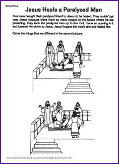 1000 images about jesus heals the paralytic man on for Healing at the pool of bethesda coloring page