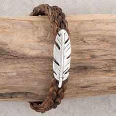 Feather Horse Hair Bracelet- The Feather Horse Hair Bracelet is cute and subtle.