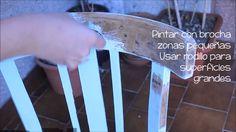 Cómo pintar silla con aspecto blanco envejecido