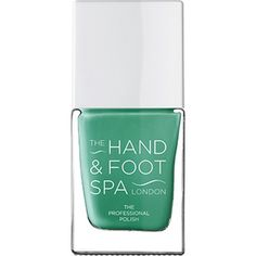 THE HAND AND FOOT SPA Aqua Marine professional nail polish (£15) ❤ liked on Polyvore featuring beauty products, nail care and nail polish