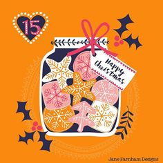 Christmas advent, day 15! #illustratedadvent #janefarnham