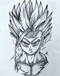 Anime Dibujos A Lapiz Dragon Ball Dbz Drawings, Cool Drawings, Drawing Sketches, Ball Drawing, Anime Tattoos, Dragon Ball Gt, Anime Sketch, Anime Art, Manga Anime