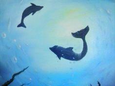 Wet-on-Wet #Oils: #Dolphin #Serenade