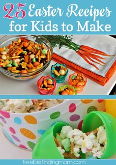 25 Easter Recipes for Kids to Make - Get the kids in the holiday spirit with Easter bunny cake pops, Easter egg popsicles, Peeps Smores and ...