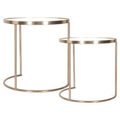 Living room gold glass circle / round side tables | Occasional Furniture | ZARA HOME United States of America
