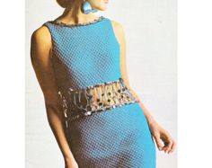 1970s VINTAGE CROCHET PATTERN to make Summer Maxi Dress/