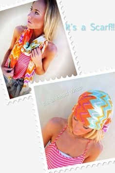 Chevron Stripe Scarf. boho cute. I want this for covering my bald head this summer, so cute!!!