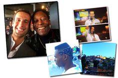 Pedro Andrade está no Brasil fazendo uma série de reportagens para seu programa nos EUA, o Fusion Live. Entre os destaques estão reportagens nas favelas brasileiras e uma entrevista exclusiva com o rei Pelé!