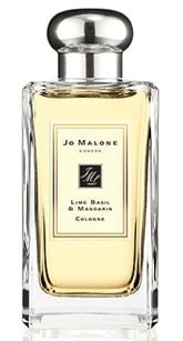 Jo Malone Lime Basil & Mandarin Cologne  Our signature fragrance. Peppery basil and aromatic white thyme bring an unexpected twist to the scent of limes on a Caribbean breeze. A modern classic.
