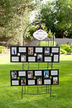 Meet the maids & men. Super cute way to introduce your bridesmaids and groomsmen to your other guests that may not know them.