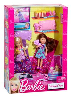 Pajama Party with Chelsea and Friend Barbie Sisters Play Collection Barbie Fashion Dolls Doll Accessories and Play Sets by Mattel