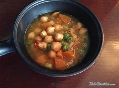 Receita de Sopa de grão de bico e legumes - Fácil