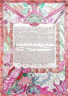 Modern Ketubah-digital print on paper 180gr-various dimensions, colors , and  version-wedding gift-judaica gift by KetubahandJudaica on Etsy