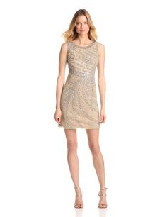 Adrianna Papell Women's Short Swirl Beaded Dress « MyStoreHome.com – Stay At Home and Shop