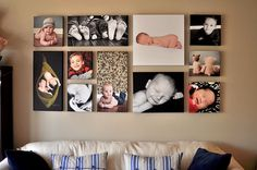 New Ideas For Wall Collage Picture Hallways Family Pictures On Wall, Family Wall, Photos On Wall, Collage Pictures, Canvas Wall Collage, Painting Canvas, Canvas Prints, Picture Wall, Photo Wall