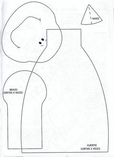 1 OF 1 :: snowmanFor this snowman, you have the head, the body, and the (brazo) arms, and the little piece is the nose!See sewing for translation Christmas Sewing, Christmas Snowman, Christmas Projects, Holiday Crafts, Christmas Holidays, Christmas Decorations, Christmas Ornaments, Xmas, Craft Patterns