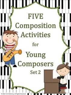 FIVE composition tasks for young musicians SET 2! Each task has a different set of requirements for the student to fulfill.  #musiceducation    #musedchat